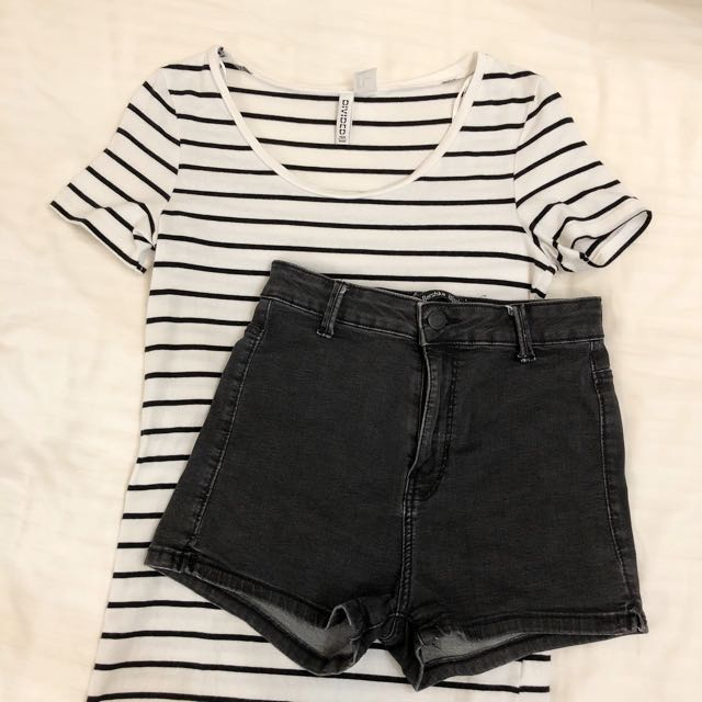 82204dea H&M striped tee, Women's Fashion, Clothes, Tops on Carousell