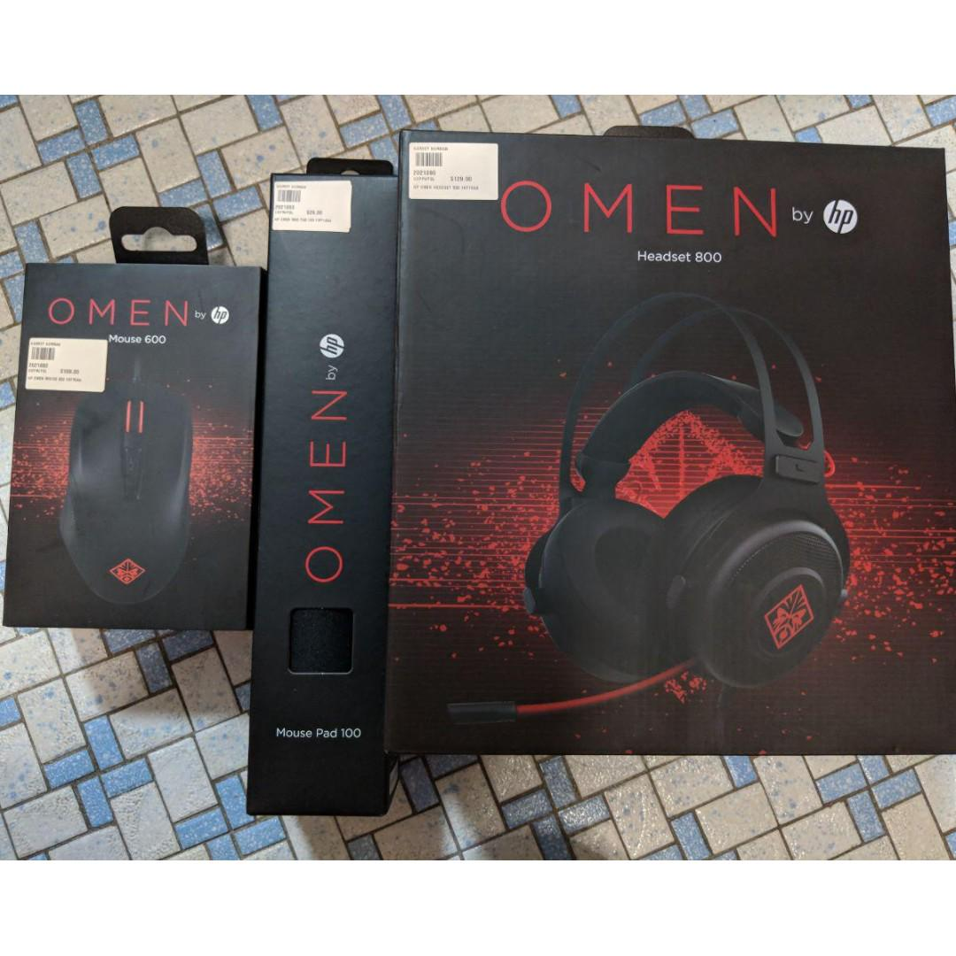 HP Omen Sets (Mouse, Mouse Pad, Headset), Electronics