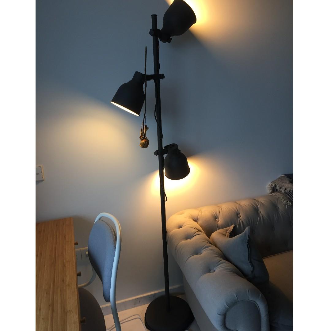 Ikea Hektar 3 Spot Floor Lamp Furniture Home Decor Lighting Supplies On Carousell