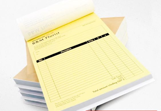 Invoice Booklet Printing Receipt Book NCR Womens Fashion - Invoice booklet