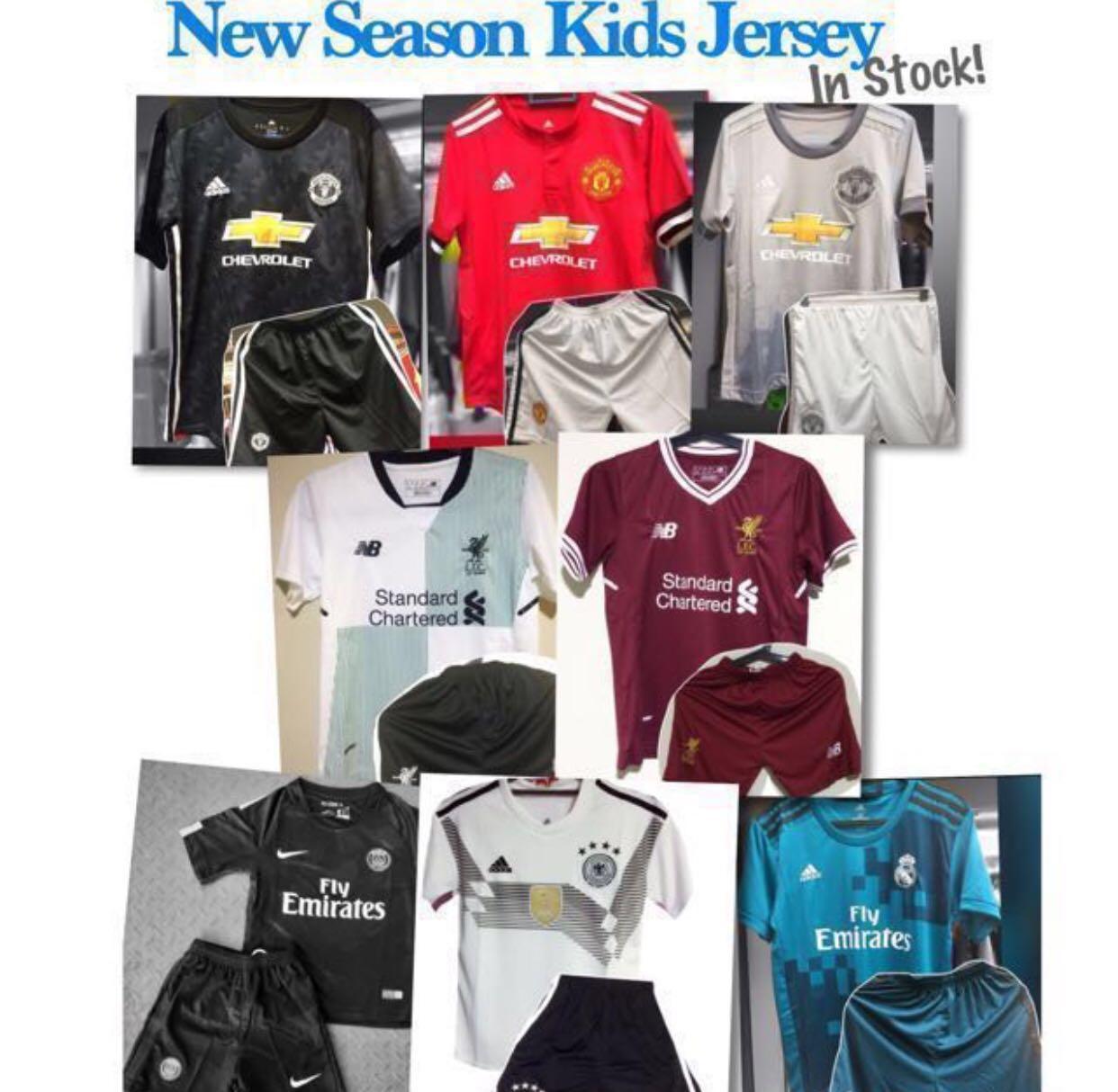 4f370191b Kids Football Jersey 17/18, Sports, Sports Apparel on Carousell