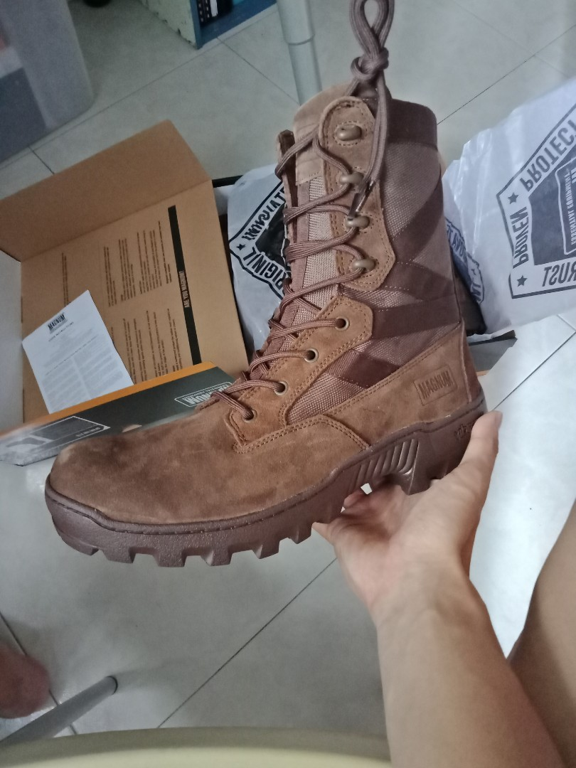 Magnum spartan combat XTB BROWN suede leather boots 8dd0a3b2e