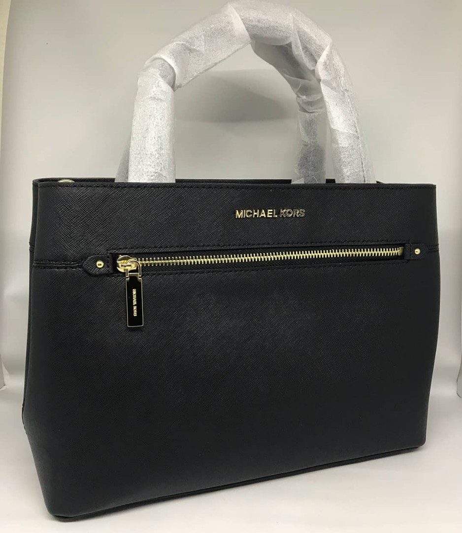 ff5090969cfd60 MICHAEL KORS HAILEE MEDIUM BLACK SZ 33x24, Luxury, Bags & Wallets on  Carousell