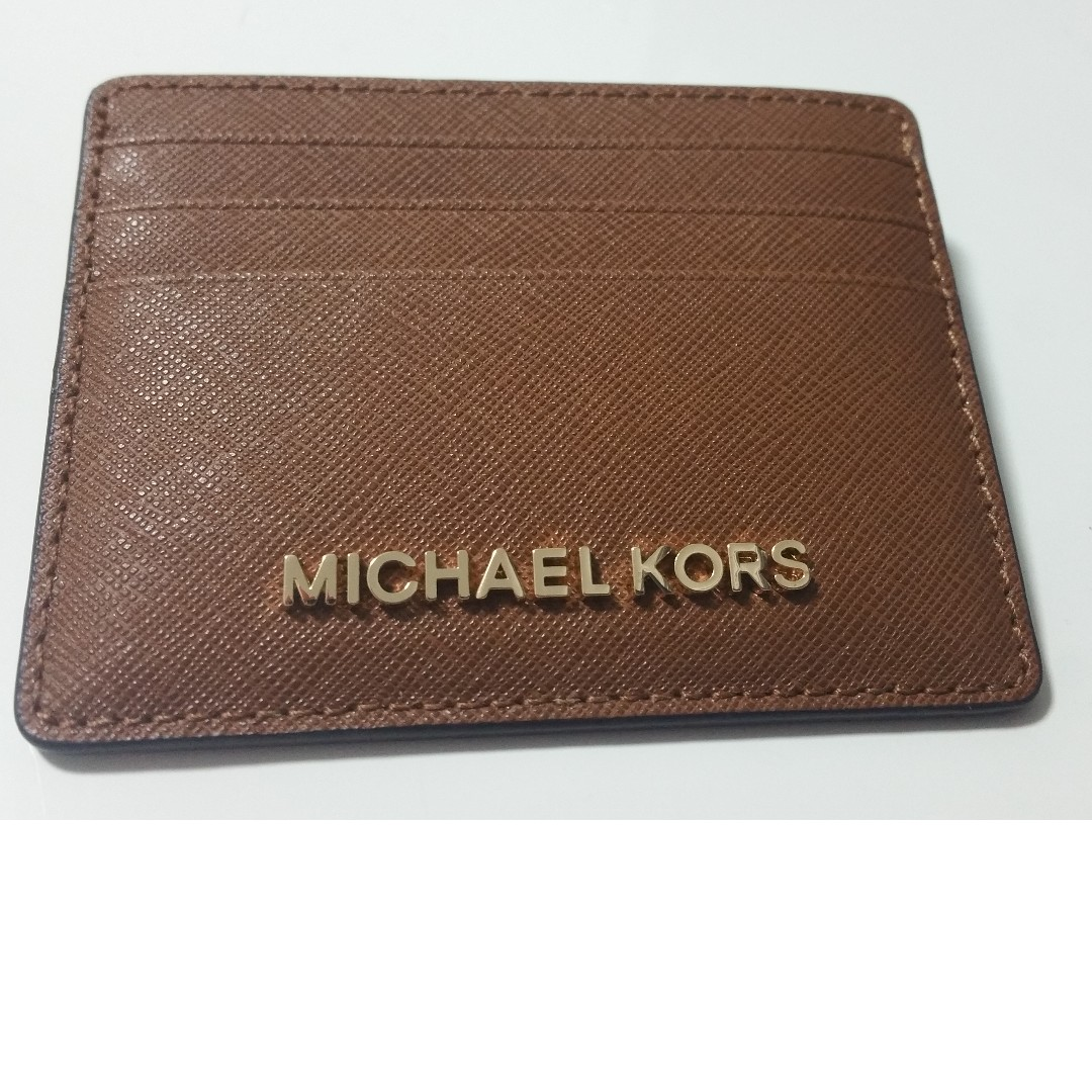9830c01e1a87 MICHAEL KORS Jet Set Leather Card Holder (Brand New) - Authentic ...