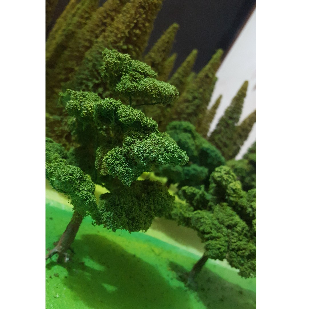 ab4bee858c82 Miniture Scaled trees (customized) well handmade with freebies ...