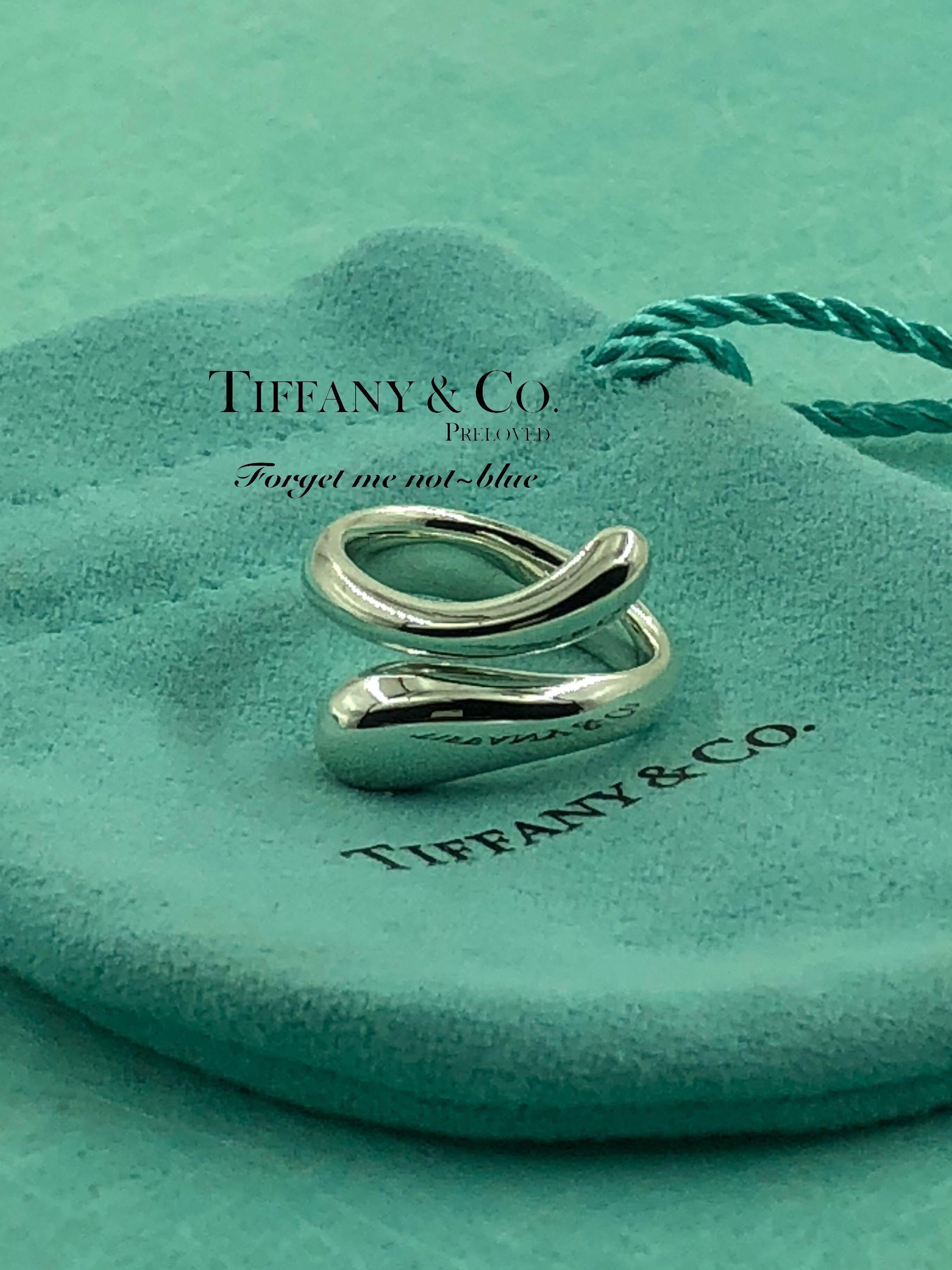 7f139f1b41 MINT! Authentic Tiffany & Co. Elsa Peretti Teardrop Bypass Ring ...