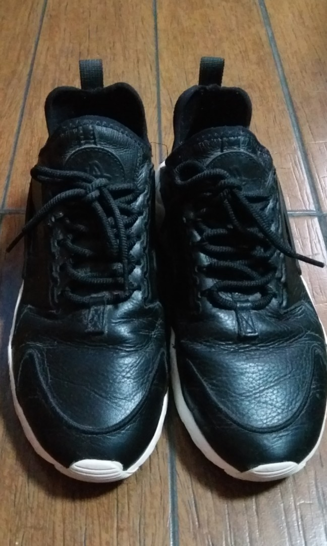 f4f12dd306016 Nike Air Huarache Run Ultra Womens Shoes Leather Black White ...