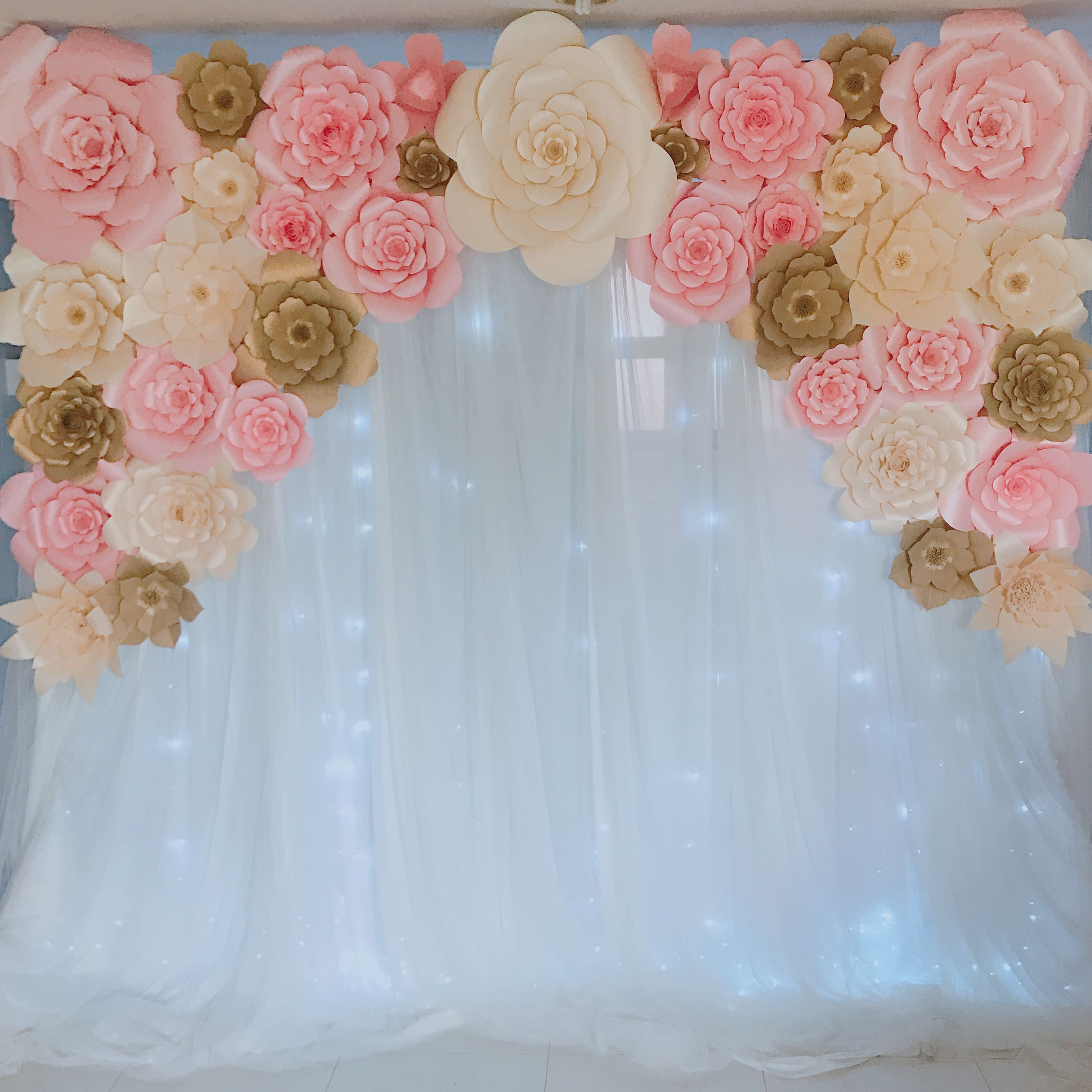 Paper Flowers Backdrop For Rent Design Craft Handmade Craft On