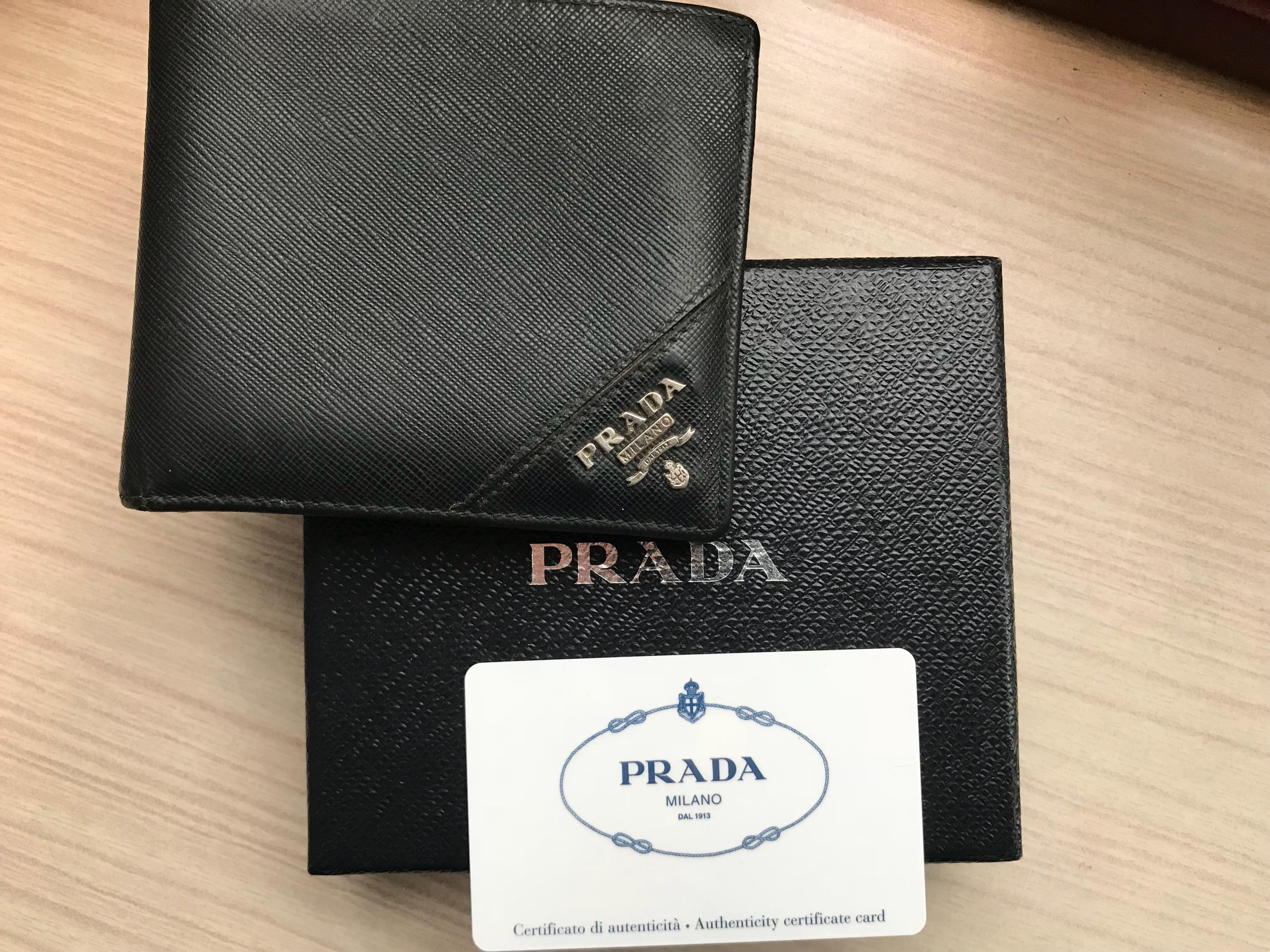 e5e667ed77f9 Prada Men Saffiano Leather Bifold Wallet with Coin Pouch, Luxury, Bags &  Wallets, Wallets on Carousell