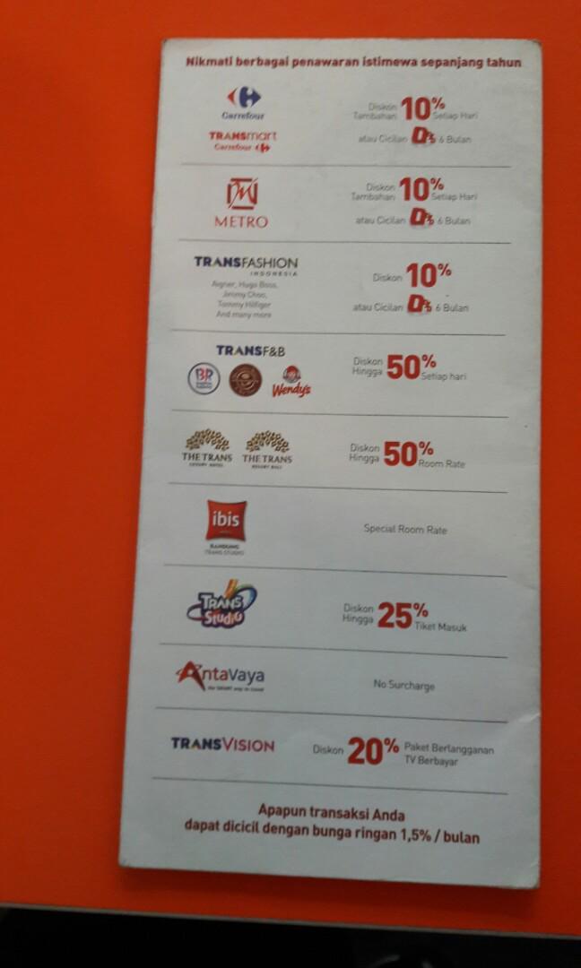 Promo Pembuatan Kartu Kredit Bank Mega Jasa Lainnya Di Carousell