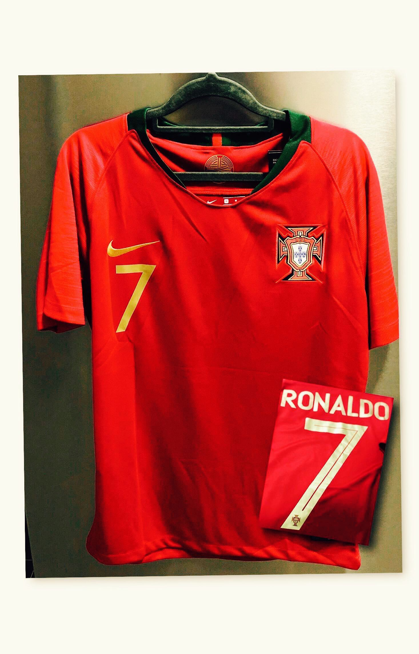 check out f5815 e2dee Ronaldo] Portugal Home 2018 World Cup, Sports, Sports ...