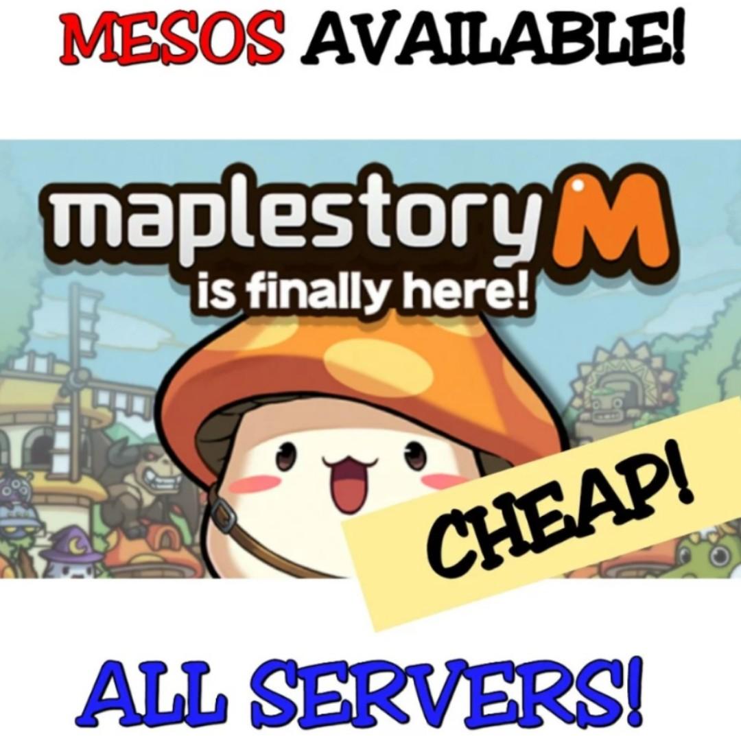 SAFEST & CHEAPEST MAPLESTORY M MESOS [0% BAN!!!]