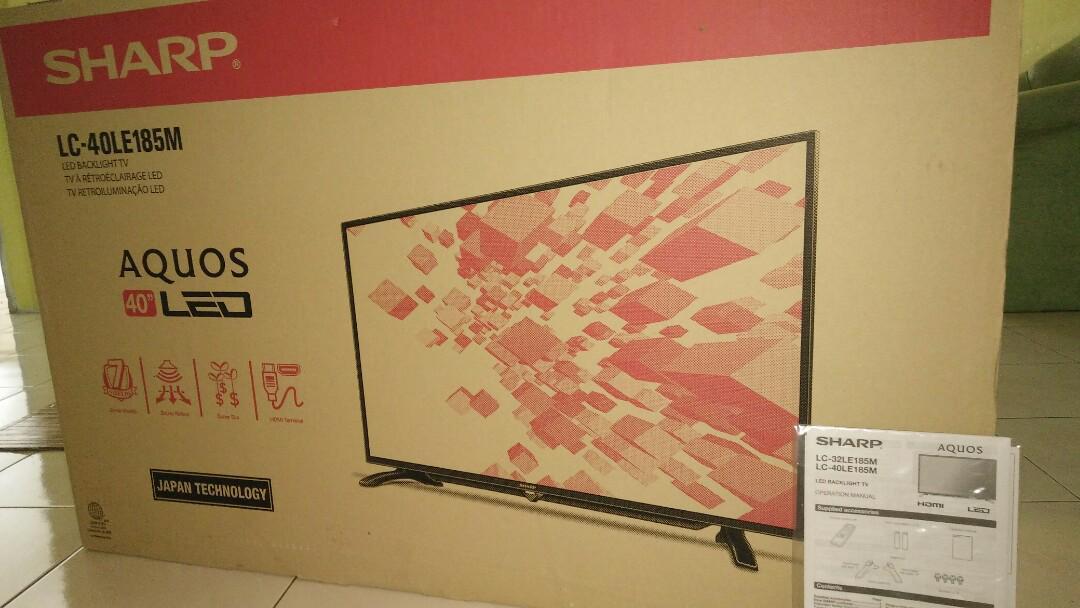 SHARP AQUOS 40IN LED TV
