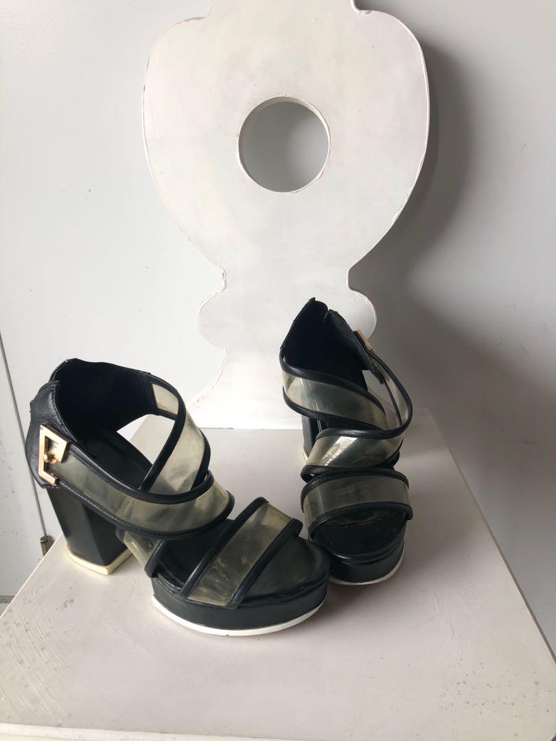 Size 7 UK Alexander Wang Platform Strap Heels