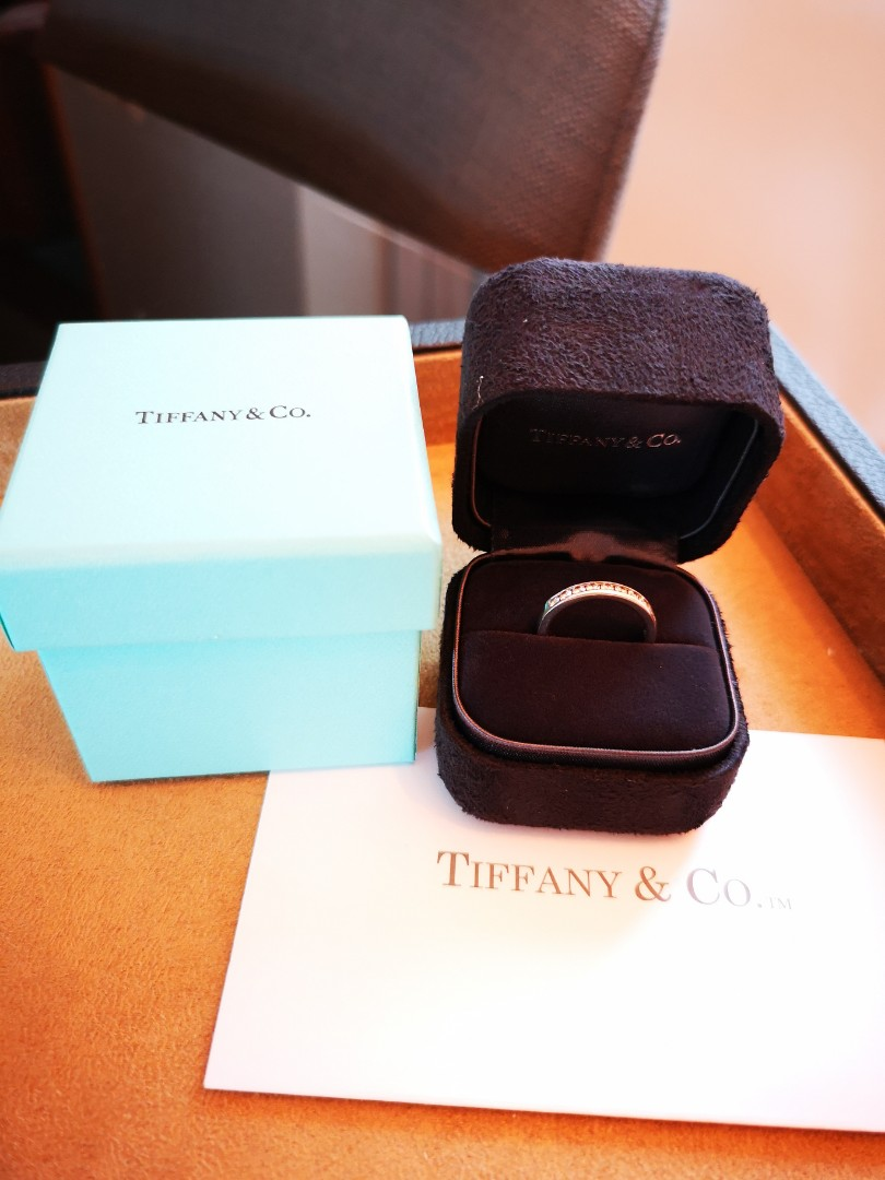 a2a7ffd69bc Tiffany   Co Celebration® stackable band ring with a half circle of ...