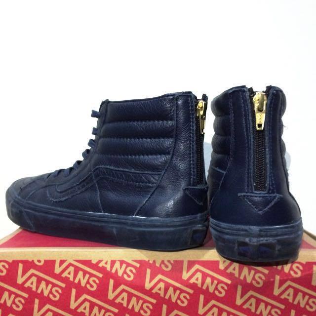 84f0dbb60de911 Vans SK8-Hi Zip CA (Boot leather) Dress Blue