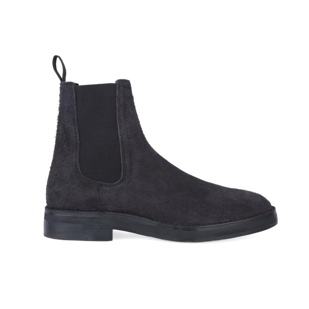 best website f37db 3c4d7 YEEZY SEASON 6 - Graphite Thick Shaggy Suede Chelsea Boot