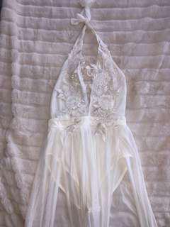All White Summer Dress