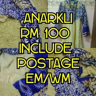 ANARKLI SAREE RM100 INC POSTAGE