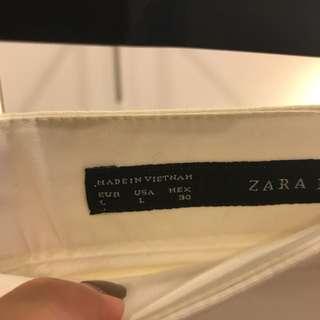 ZARA CREAM SKIRT