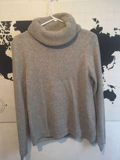 GUESS Open Back Grey Turtleneck