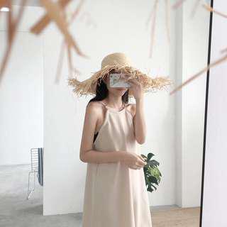 Beige Halter Dress 💗