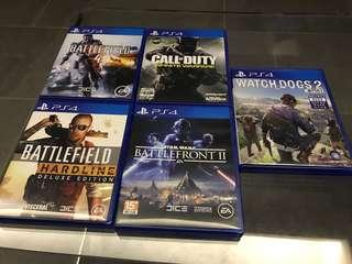 PS4 Games x5