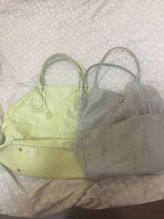 REPRICED Bundle of authentic Rabeanco Large Tote bags