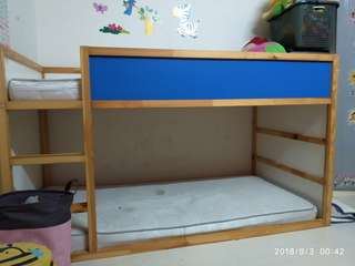 ikea double decker wooden bed frame