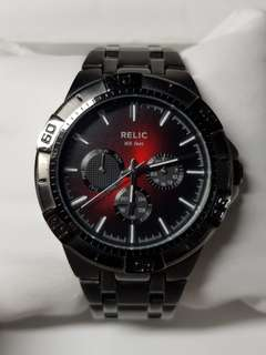 Relic by Fossil - Men's watch beautiful black and red dial
