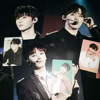 WANNA ONE FANCON DVD MINI POSTER AND PHOTOCARD A