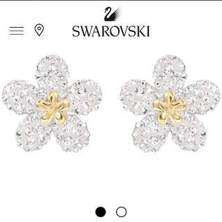 Swarovski Earrings - Tough Flowers 花花水晶耳環