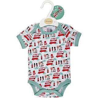 Red Bus Baby Romper New Born
