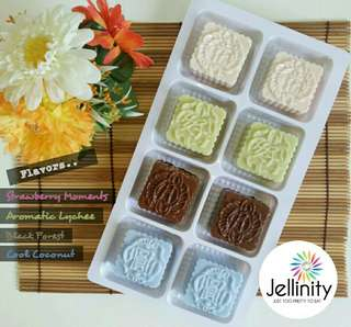 [SOLD OUT] Mini Jelly Mooncakes 迷你水晶月饼 2018 - JUST TOO PRETTY TO EAT!