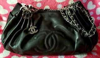 REDUCED! Chanel Large Calfskin Chain CC Shoulder Bag