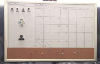 Wall planner / magnetic whiteboard & bulletin board