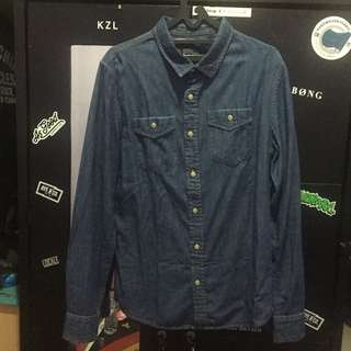 Bershka denim shirt sz M