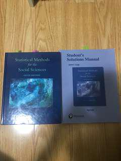 Statistics for Social Sciences Textbook+ Answer booklet