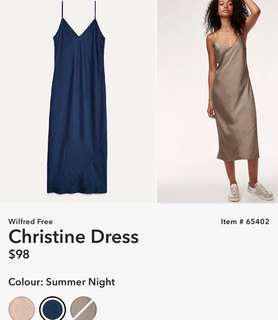 Aritzia Wilfred Free Christine Dress