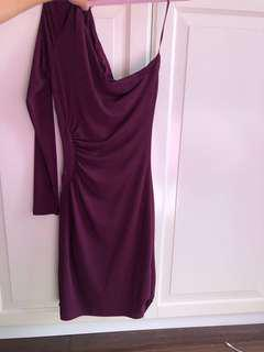 Marciano Velvet One Arm Dress