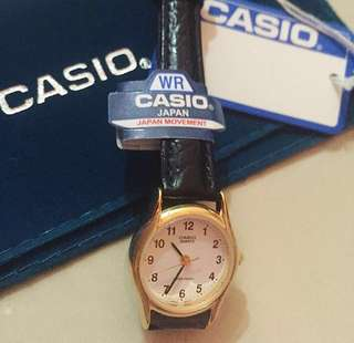 Casio Gold Watch with Black Strap ( Authentic)