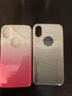 ombre sparkle iphone x case