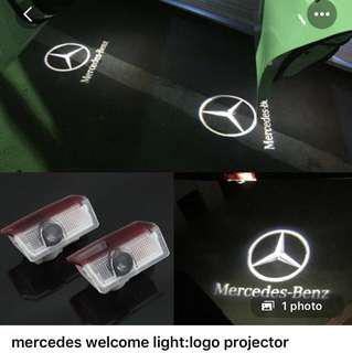 Mercedes welcome light: auto projector