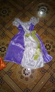 Disney princess gown(3 to 7yrs old)