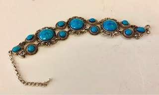 Turquoise Semi-Precious Stone Bracelet