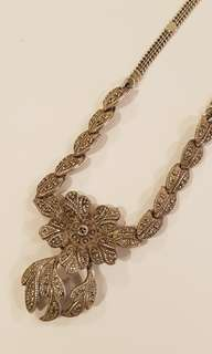 Vintage Antique Sterling Silver Deco Style Women's Necklace