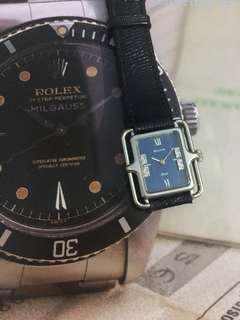 古董 Dior 18K白金鑽石上錬手錶 女裝 SEiKO 寶路華