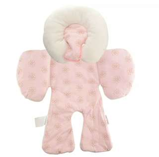 Pink StrollerPad with Head Support Pillow