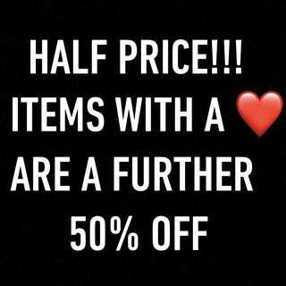TAKE A FURTHER 50% OFF ITEMS WITH ❤️