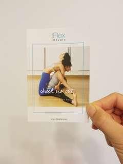 1堂免費 flex studio yoga or pilates class NO hardsell